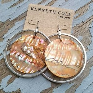 Kenneth Cole NY Statement Earrings Round O…
